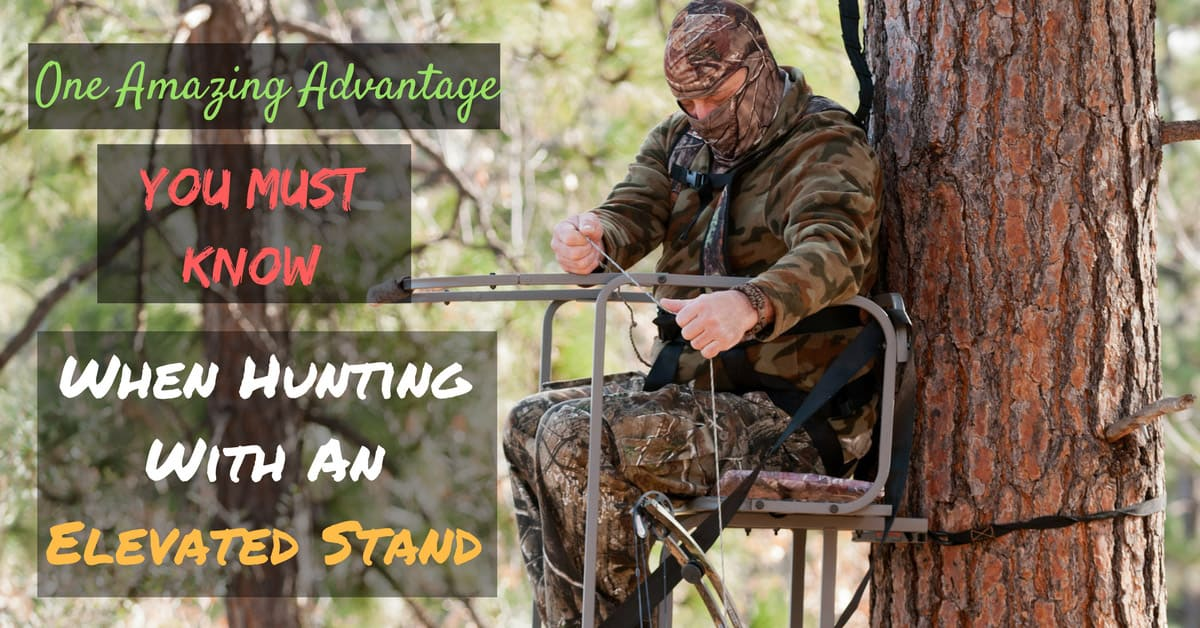 what is one advantage of hunting from an elevated stand