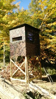 how to build a deer blind window