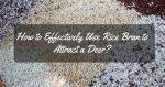 Rice Bran for Deer