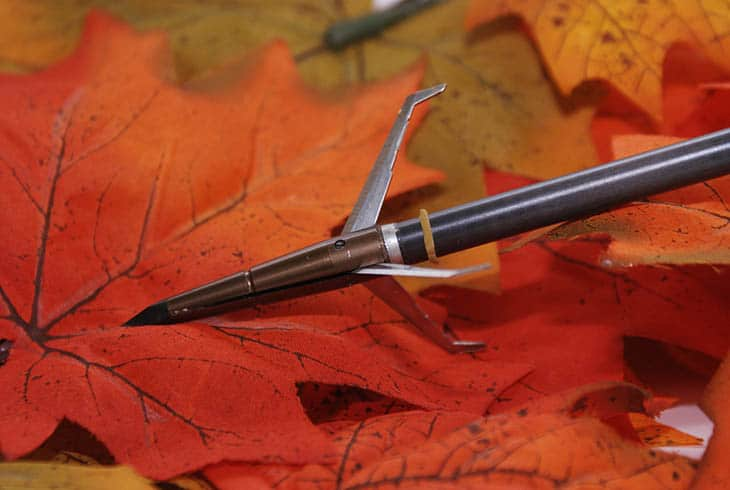 A broadhead arrow